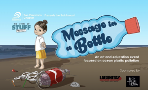 message in a bottle event at POFA